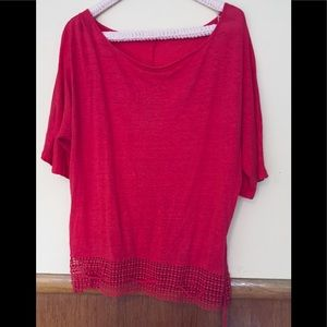 Tops - Coral colored knit top